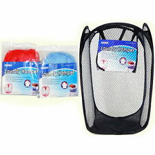 Extra Large Laundry Bag Basket Mesh Hamper Foldable Wash Clothes Storage Bin B33