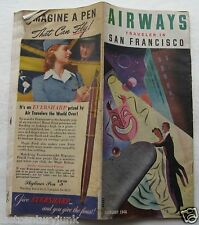 Brochure For Airways Traveler In San Francisico /United Aiirlines DC-6 1946