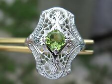 .60ct FLAWLESS PERIDOT RING,ART DECO CHARACTERISTICS, VINTAGE, ESTATE