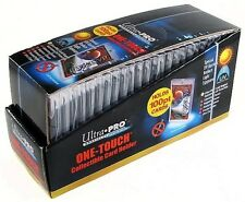 Box of (25) ~ Ultra Pro 1 One Touch Magnetic Card Holders ~ 100pt New!