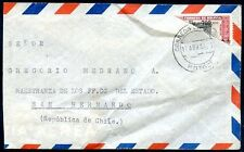 BOLIVIA TO CHILE Air Mail Cover 1959, Bisected Postage, RARE!