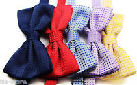 MENS COLOURED POLKA DOT BOW TIE PRE-TIED MEN'S BOWTIE WEDDING FORMAL TIES TUXEDO
