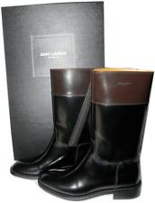 $1395 Saint Laurent Paris Cavaliere Riding Boot Bicolor Flat Bootie 42 -11 Ys...
