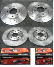 PEUGEOT 306 2.0HDI CROSS DRILLED GROOVED BRAKE DISC BRAKE PADS 266m