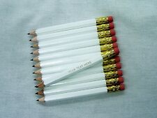 "72 ""White"" Personalized Golf Pencils w/Erasers"