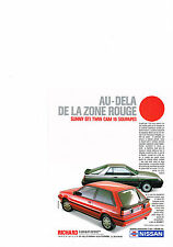 PUBLICITE ADVERTISING  1987   NISSAN   SUNNY GTI TWIN CAM    16 soupapes