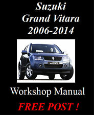 SUZUKI GRAND VITARA 2006-2014 PETROL & DIESEL WORKSHOP MANUAL DIGITAL DOWNLOAD