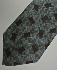 "Green Gold Basket Weave PIERRE BALMAIN Silk Tie Made in ITALY 3.8"" Wide 55"" L"