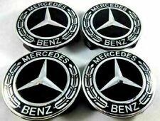 Mercedes Black Alloy Wheel Centre Hub Caps AMG A B C E S M Class ML CLA GLA SLK