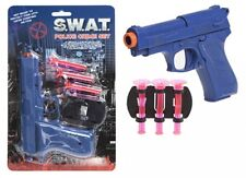 """8"""" Police Gun Detective Style Pistol With 3 Soft Darts Cosplay Pistol Toy Weapon"""