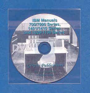 IBM 7090/7094/709/704/1401/1410/1620/1130 Manuals DVD