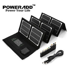 Poweradd Portable 40W 18V Solar Panel Battery Charger Kit Waterproof Power Bank