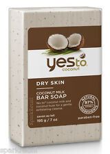 Sì al latte di cocco cocco pelle secca Soap Bar con Shea & Burro di Cacao 195 G