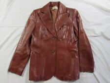Vtg 60s 70s Womens Beged-Or Leather Blazer Jacket Coat Sz 14 USA Made ? Nice!
