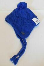 Abercrombie Blue Knit Sherpa Lined Braided Beanie Brand New BNWT