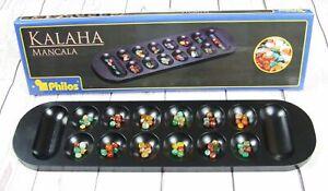 Philos Classic Game Large Mancala 'Congkak' Black Wood