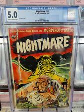 NIGHTMARE #10 (1953) - CBCS GRADE 5.0 - JOE KUBERT COVER!