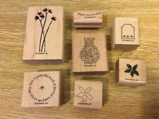 """Stampin' Up! Set 7 Wooden Mounted Rubber Stamps Stamping """"Best Kind of Friend"""""""