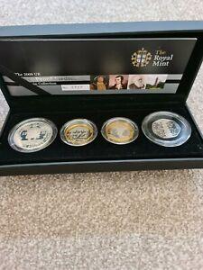 2009 Silver Proof Piedfort Coin Set Royal Mint Includes Kew Gardens 50p Box COA