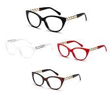 Cat Eyes Style Clear Lens Glasses Non-Prescription Eyewear Fashion Trendy UV100%