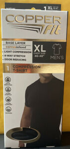 """Copper Fit Compression Copper Infused T-Shirt  Mens XL (46""""to 48"""") Brand New"""