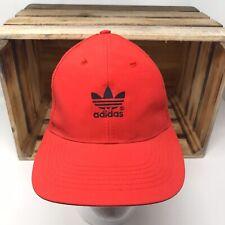 Vintage Adidas Logo Snapback Hat 90s Embroidered Trefoil Baseball Cap Hat Retro