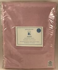 """Pottery Barn Kids Addie Blackout Embroidered Panel 63"""" Pink White New"""