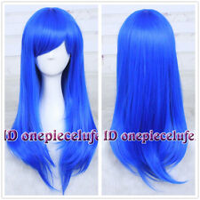 Lucky Star Konata Izumi/Fairy Tail Wendy Marvell straight Long Blue Cosplay Wig