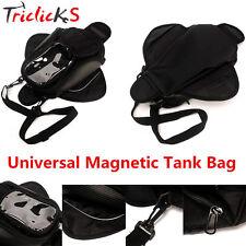Motorcycle Magnetic Gas Tank Bag Saddlebag Sport Bike Cruiser Gear Dual Black TR