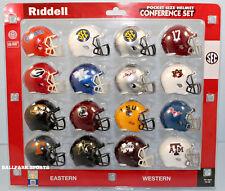 """SEC CONFERENCE - Riddell NCAA """"SPEED"""" Pocket Pro Helmet Set (2018)"""