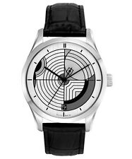 BULOVA 96A129 Hoffman House Rug Design Leather Stainless Steel Dress Men's Watch