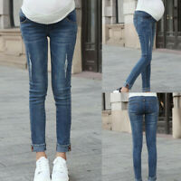 Fashion Women Pregnancy Leggings Jeans Maternity Long Pants Belly Denim Trousers