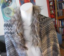 TOP - CODELLO XL Schal mit Fell 200 x 67cm Fellschal Stola Fake Fur