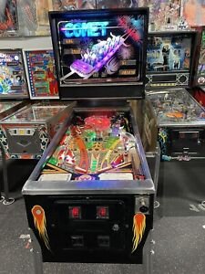 1985 WILLIAMS COMET PINBALL MACHINE CLASSIC LEDS PLAYS GREAT THEME