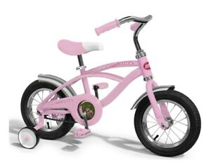 """NEW IN BOX RADIO FLYER #33P CLASSIC GIRLS PINK 12"""" TRICYCLE STEEL W/ BELL SALE!!"""