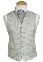 £6.01 MENS WEDDING SILVER GREY DIAMOND DRESS SUIT WAISTCOAT 38 40 42