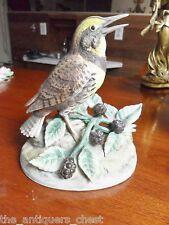 Meadow Lark bird figurine (open beak) by Andrea Sadek[fist]