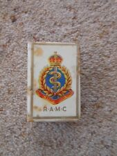 Royal Army Medical Corps RAMC celluloid matchbox holder - Military