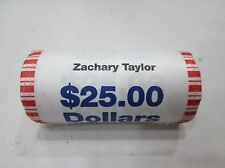 "2009 P Zachary Taylor Presidential ""Unopened"" Bank Wrapped Dollar 25 Coin ROLL"