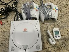 Sega Dreamcast Console w/ 2 Controllers, Memory Card, Wires, Shenmue  + more