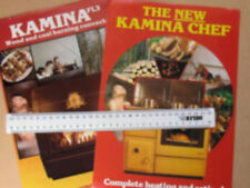 TWO 1980s A4 FLYERS FOR KAMINA PRODUCTS - CHEF (COOKER/BOILER) AND FL3 (STOVE)
