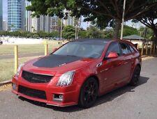 2009 - 2014 Cadillac CTS-V Matte Black Mesh UPPER and BUMPER Grille