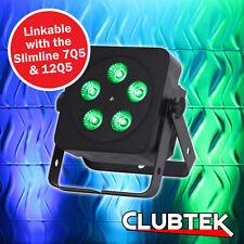Ledj Negro Slimline 5Q5 RGBW LED Luz Dmx Par de fiesta ceñido Discoteca DJ Iluminación Superior Reino Unido *