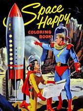 Libro Sci Fi Espacio Astronauta Espacio Para Colorear Cubierta feliz EE. UU. impresión de cartel BB7697