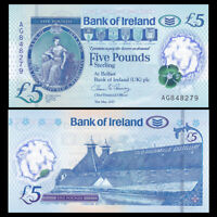 Northern Ireland 5 Pounds,  2017(2019), P-NEW, Polymer, Bank of Ireland , UNC