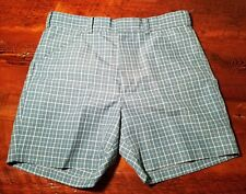 Vintage Mens size 34 casual polyester golf shorts EUC blue Campus Studio One