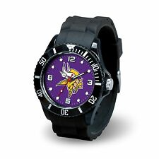 Minnesota Vikings NFL Football Team Men's Black Sparo Spirit Watch