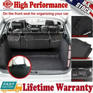High Capacity Multi-use Car Seat Back Organizers Bag For Interior Accessories US