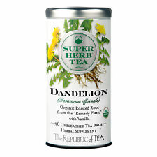 The Republic Of Tea Organic Dandelion Superherb Herbal Tea, 36 Tea Bags, Caffein