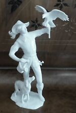Vintage Kaiser Porcelain Figure Falconer With His Dog And Falcon W. Germany